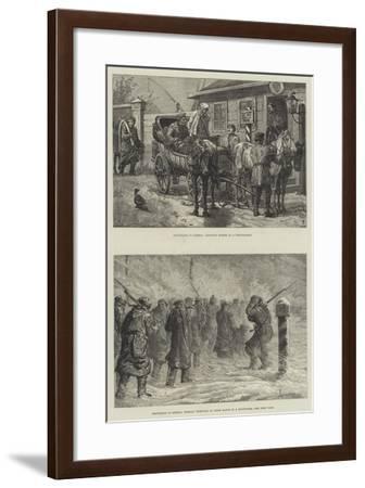 Travelling in Siberia-Johann Nepomuk Schonberg-Framed Giclee Print