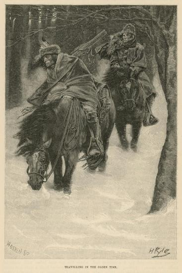 Travelling in the Olden Time-Howard Pyle-Giclee Print