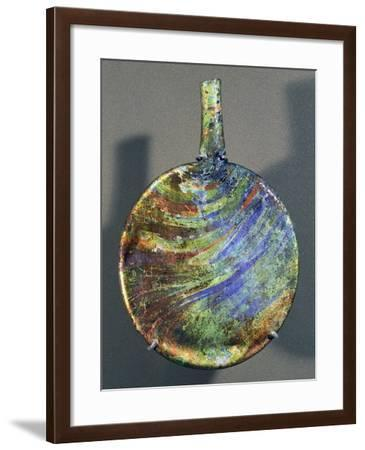 Travelling Water Bottle in Glass, Artifact Uncovered from Tyre, Lebanon--Framed Giclee Print