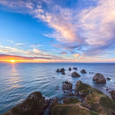 Rocks and Sea Stacks at Nugget Point, Otago, New Zealand by Travellinglight
