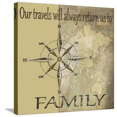Travels Lead Back to Family-Karen J^ Williams-Stretched Canvas Print