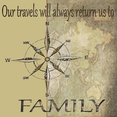 Travels lead back to Family-Karen Williams-Giclee Print