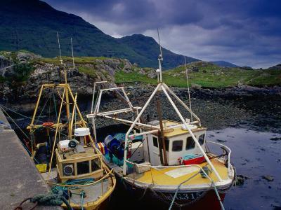 Trawlers at Rosroe in Killary Harbour, Connemara, Ireland-Gareth McCormack-Photographic Print