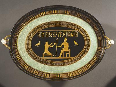 Tray with Egyptian Decorations, Porcelain, 1790-1800--Giclee Print