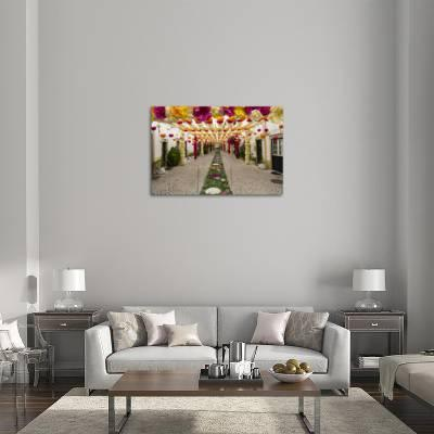 Trays Festival Neighborhoods Are Colorfully Decorated With Paper Flowers And Garlands Photographic Print By Emily Wilson Art Com