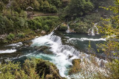 ?trba?ki Buk, Una NP. ?trba?ki Buk Waterfalls Una River, Borders Bosnia, Herzegovina & Croatia-Karine Aigner-Photographic Print