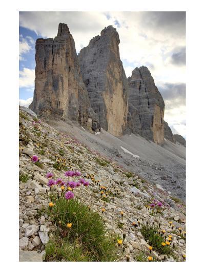 Tre Cime di Lavaredo, Sexten Dolomites, Province of Bolzano, South Tyrol, Italy--Art Print