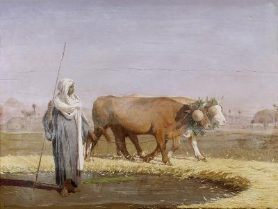 Treading Out Wheat in Egypt-Jean Leon Gerome-Giclee Print