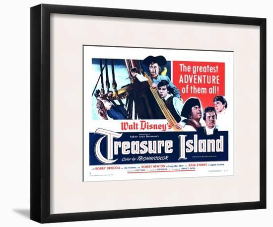 Treasure Island, 1950--Framed Art Print