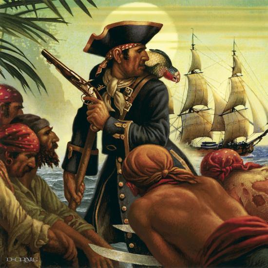 Treasure Island-Dan Craig-Giclee Print