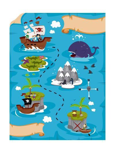 Treasure Map-lenm-Art Print