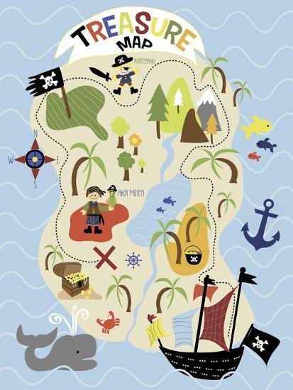 Treasure Map-Erin Clark-Giclee Print