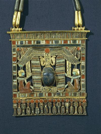Treasure of Tanis, Breastplate of Psusennes I Made of Gold, Lapis Lazuli and Red Jasper--Giclee Print