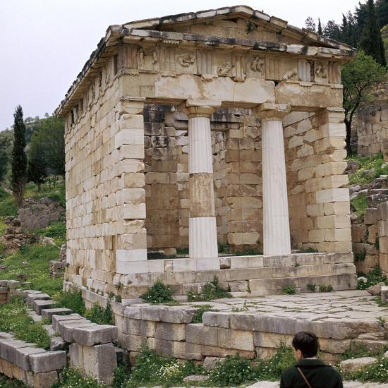 Treasury of the Athenians in Delphi, 5th century BC-Unknown-Photographic Print