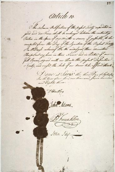 Treaty of Paris, 1783--Giclee Print