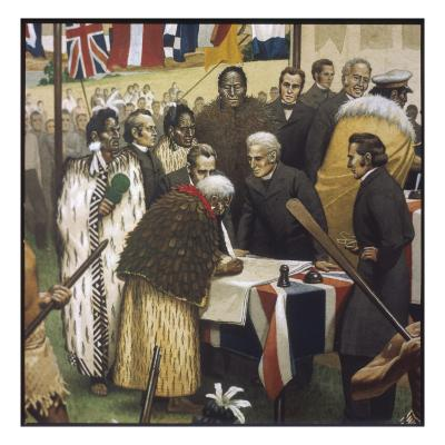 Treaty of Waitangi--Giclee Print