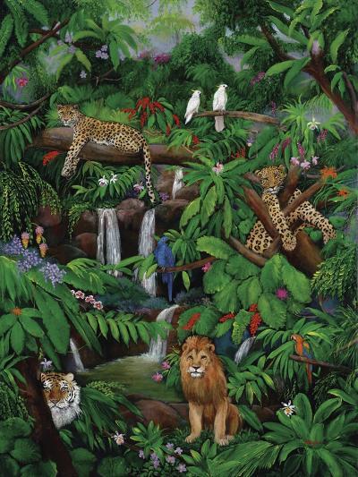 Tree Leopards-Betty Lou-Giclee Print