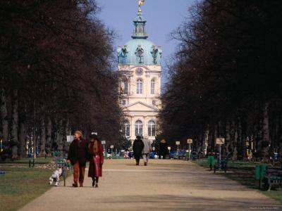 Tree Lined Path to Charlottenburg Palace's Central Domed Tower, Circa 1812-David Peevers-Photographic Print