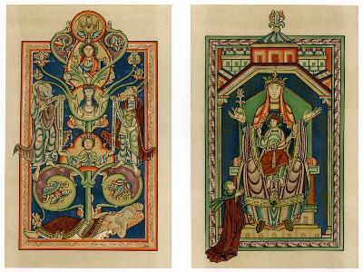 Tree of Jesse and Virgin and Child Enthroned, C1130-1140--Giclee Print