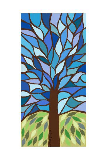 Tree of Life - Blue-Kerri Ambrosino-Giclee Print