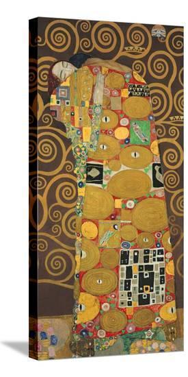 Tree of Life (Brown Variation) III-Gustav Klimt-Stretched Canvas Print