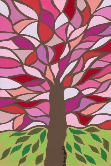 Tree of Life - Pink-Kerri Ambrosino-Giclee Print