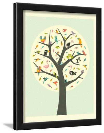 Tree of Life-Jazzberry Blue-Framed Art Print