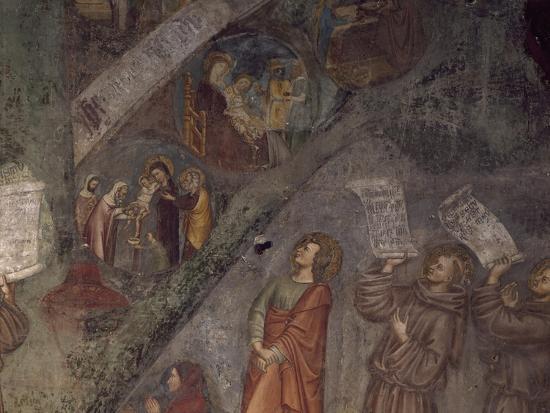 Tree of St Bonaventure, Detail of 14th Century Fresco--Giclee Print