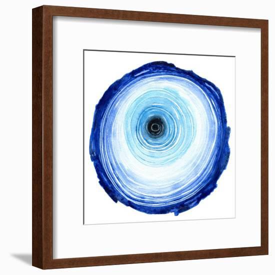 Tree Ring - Indigo-Sam Nagel-Framed Art Print
