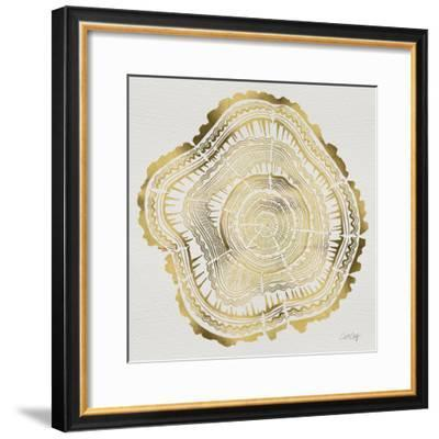 Tree Rings in Gold-Cat Coquillette-Framed Giclee Print