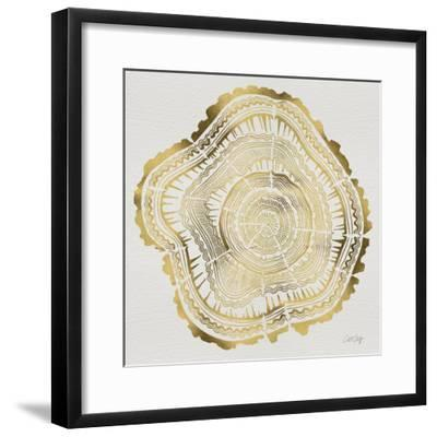 Tree Rings in Gold-Cat Coquillette-Framed Premium Giclee Print