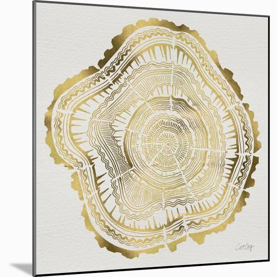 Tree Rings in Gold-Cat Coquillette-Mounted Premium Giclee Print