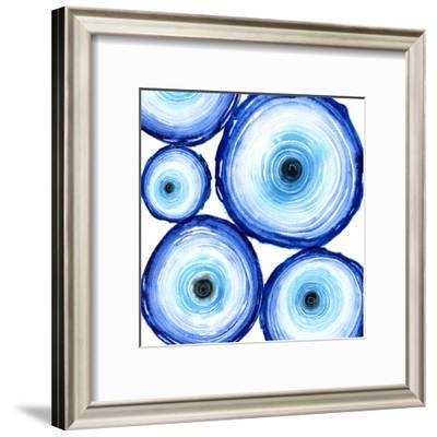 Tree Rings Indigo-Sam Nagel-Framed Art Print