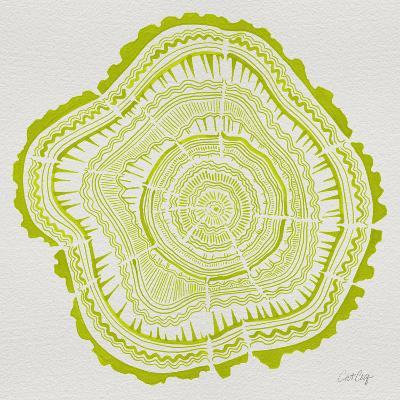Tree Rings Lime-Cat Coquillette-Giclee Print