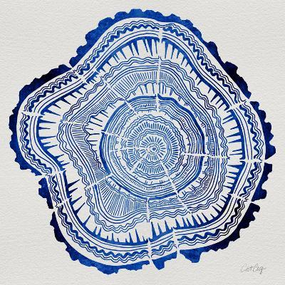 Tree Rings Navy-Cat Coquillette-Giclee Print