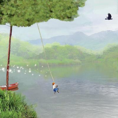 Tree Swing-Nancy Tillman-Art Print
