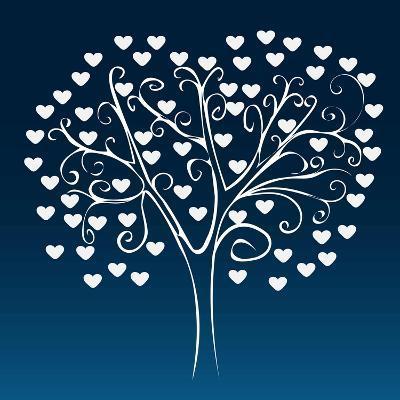 Tree with Hearts-Elena Kozyreva-Art Print