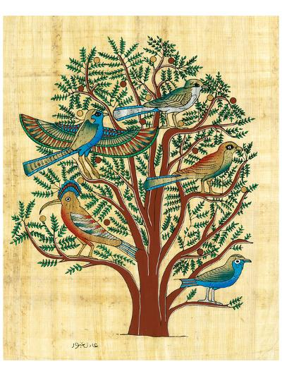 Tree with Sacred Birds--Art Print