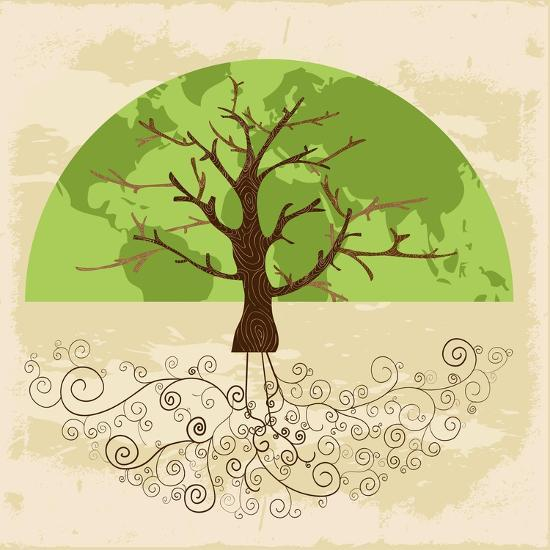 Tree World Concept-cienpies-Art Print