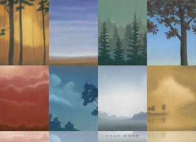 Trees and Misty-Deac Mong-Art Print
