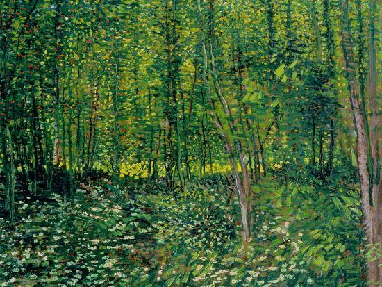 Trees and Undergrowth, c.1887-Vincent van Gogh-Premium Giclee Print