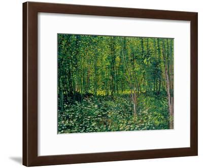 Trees and Undergrowth, c.1887-Vincent van Gogh-Framed Giclee Print