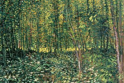 Trees and Undergrowth, c.1887-Vincent van Gogh-Giant Art Print