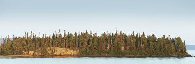 Trees Covering an Island on Lake Superior at Sunset; Thunder Bay, Ontario, Canada-Design Pics Inc-Photographic Print
