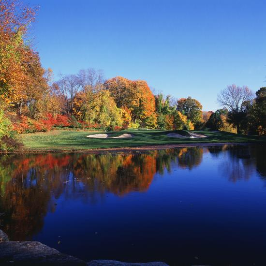 Trees in a Golf Course, Patterson Club, Fairfield, Connecticut, USA--Photographic Print