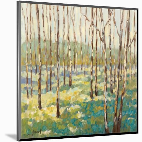 Trees in Blue Green-Libby Smart-Mounted Giclee Print