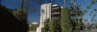 Trees in Front of a Hotel, Beverly Hills Hotel, Beverly Hills, Los Angeles County, California, USA--Photographic Print