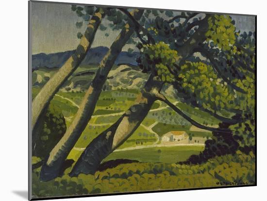 Trees, Provence, 1912-Derwent Lees-Mounted Premium Giclee Print