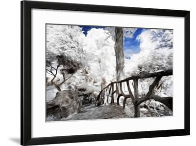 Trees under Snow - In the Style of Oil Painting-Philippe Hugonnard-Framed Giclee Print