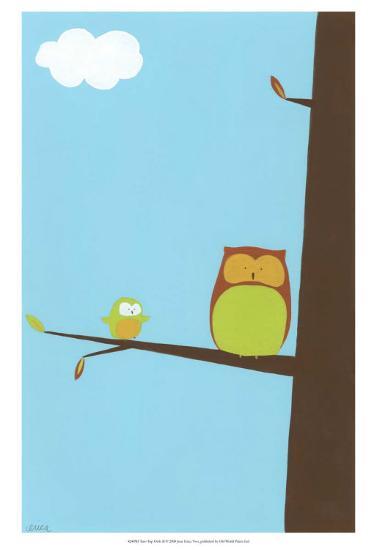 Treetop Owls II-Erica J^ Vess-Art Print
